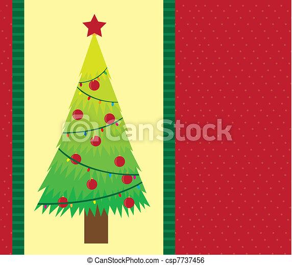 Una tarjeta de navidad - csp7737456