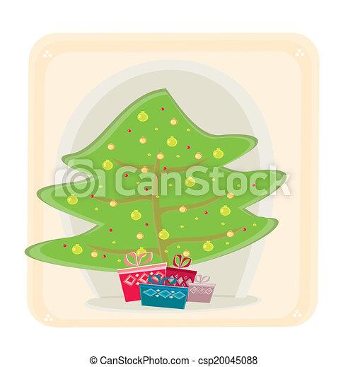 Tarjeta de árbol de Navidad - csp20045088