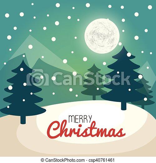 Tarjeta de pino de árbol de Navidad - csp40761461