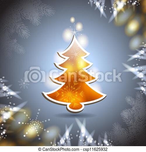 Carta de Navidad con pino - csp11625932