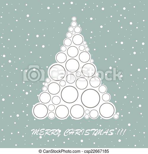 Tarjeta de felicitación del árbol de Navidad - csp22667185