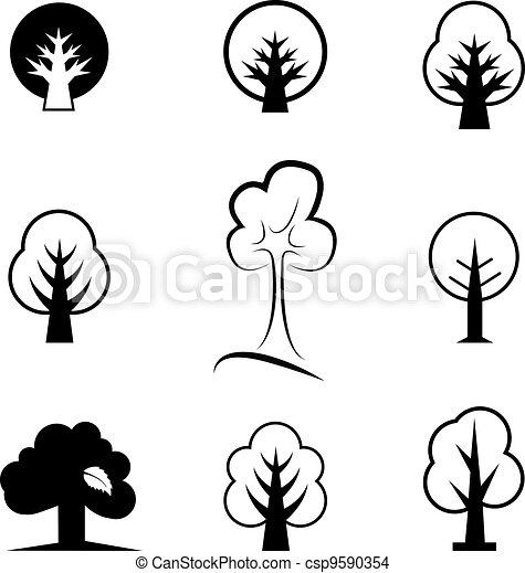 Icones de árboles - csp9590354