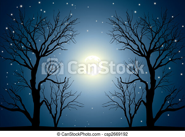 Árboles de luna - csp2669192