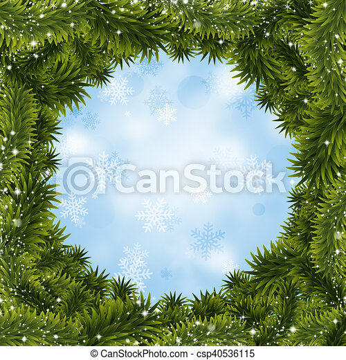 Antecedentes de árboles de Navidad - csp40536115