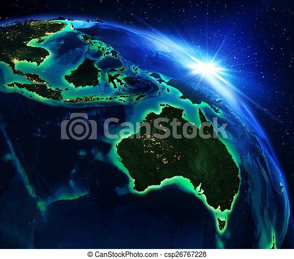 Zona de tierra en Australia - csp26767228