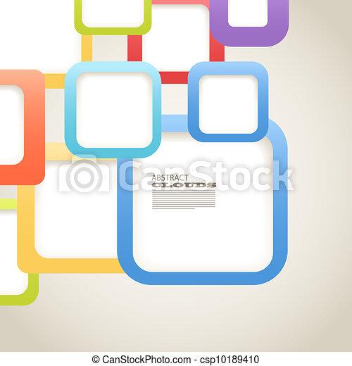 Abstracción de fondo de cajas de colores con espacio en blanco para cualquier contenido - csp10189410