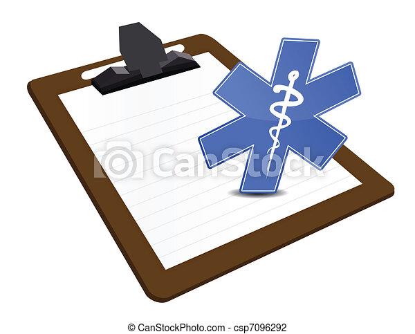 área de transferência, exame médico ilustração - csp7096292