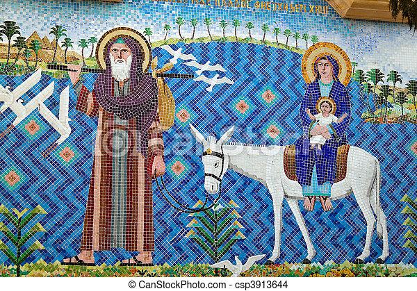Egipto, el cairo, el área coptica, la iglesia flotante - csp3913644