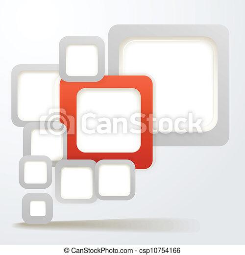 Abstraer el depósito de cajas con espacio en blanco para cualquier contenido - csp10754166