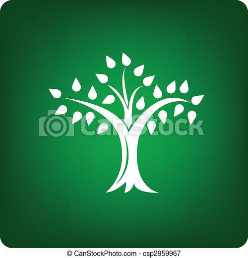 árvore, ícone - csp2959967
