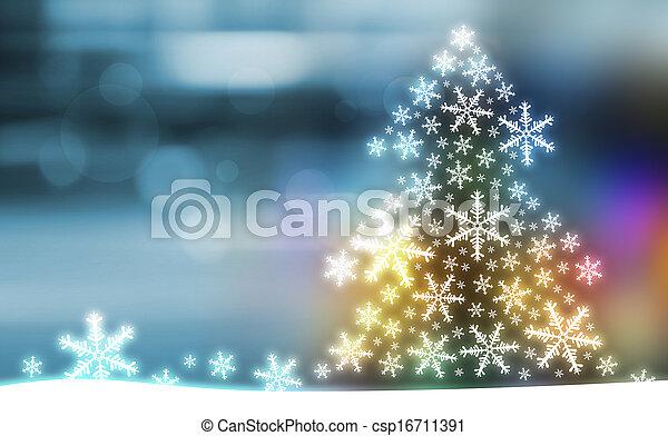 árvore, desenho, natal - csp16711391