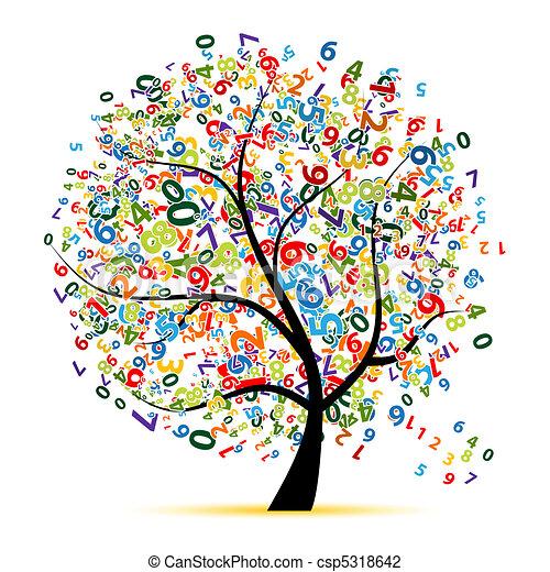 árvore, desenho, seu, digital - csp5318642
