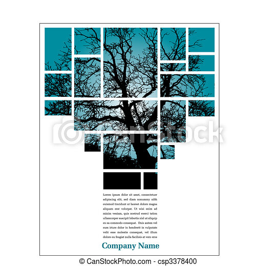 árvore, esquema, página - csp3378400