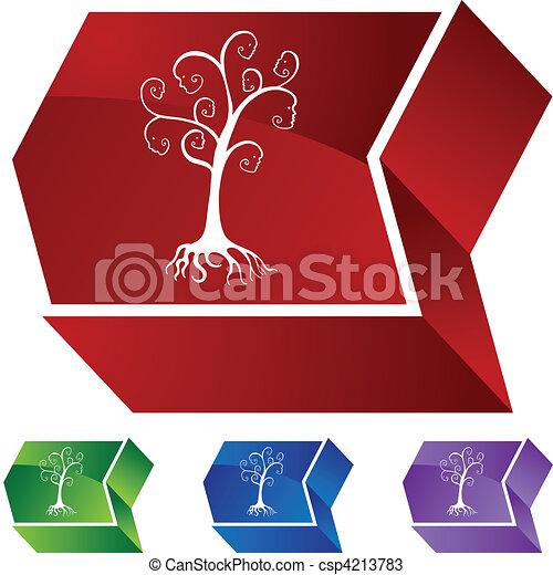 árvore, família - csp4213783