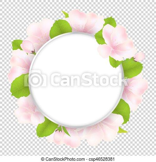 árvore, flores, borbulho fala, maçã - csp46528381