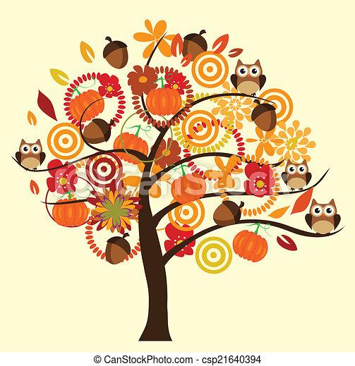 árvore, outono - csp21640394