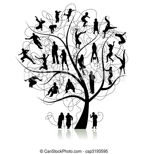 árvore, parentes, família - csp3193595