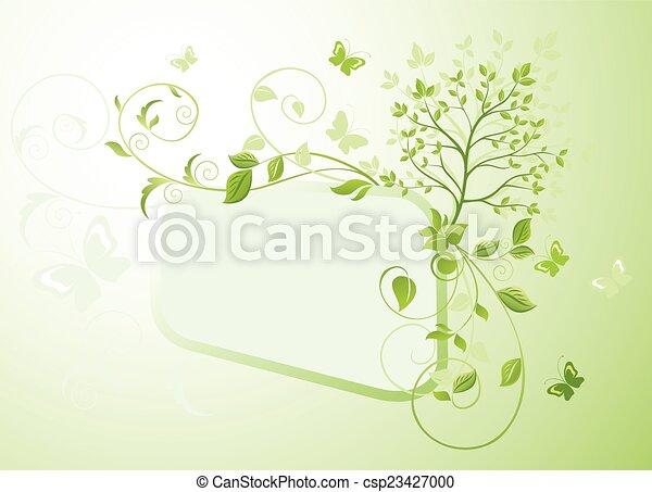 árvore, quadro, verde - csp23427000
