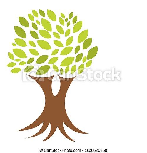 árvore, raizes - csp6620358