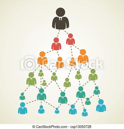 árvore, rede, pessoas - csp13050728