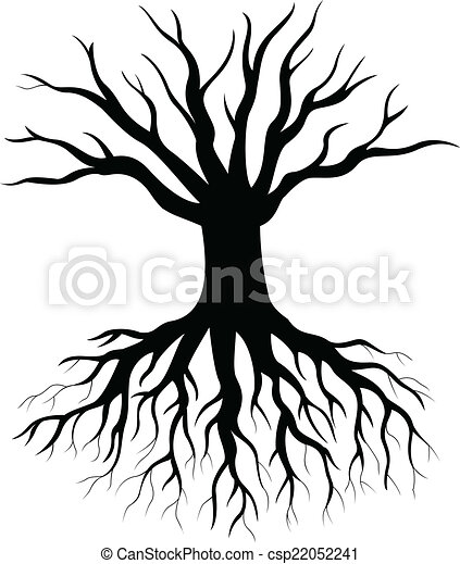 árvore, silueta - csp22052241