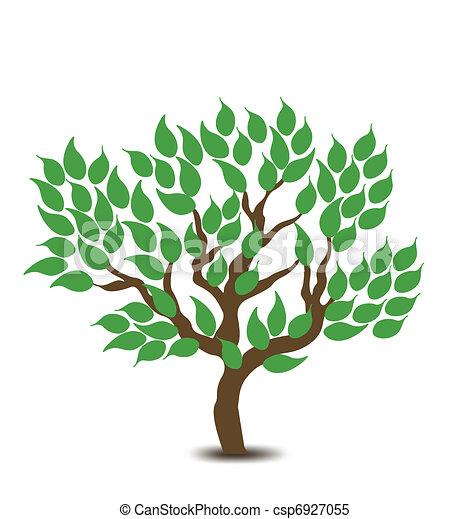árvore., vetorial, desenho, fundo - csp6927055