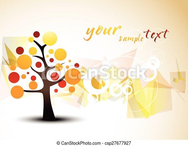 árvore, vetorial, desenho - csp27677927