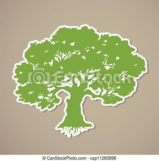 árvore., vetorial - csp11265898