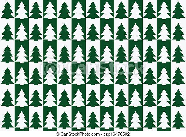 árvores, natal, padrão experiência - csp16476592