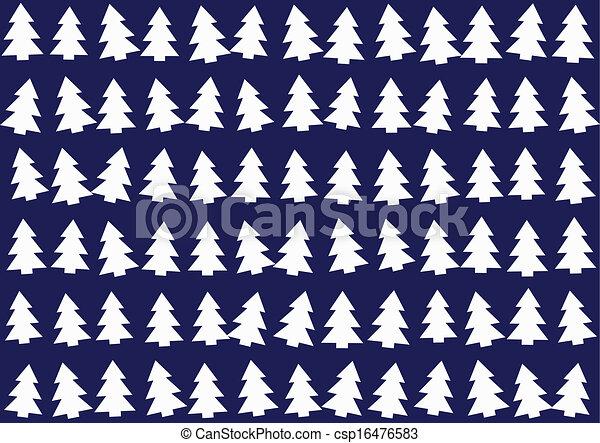 árvores, natal, padrão experiência - csp16476583