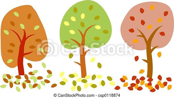 árvores outono - csp0118874