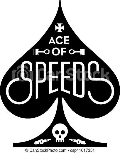 ás, car, vetorial, desenho, ande motocicleta correr, ou, speeds - csp41617351