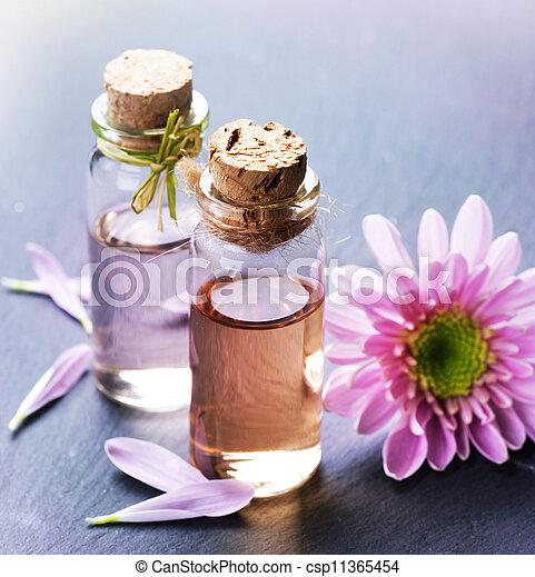 ásványvízforrás, oil., alapvető, aromatherapy - csp11365454