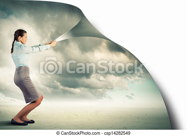 átalakuló, nő, realitás - csp14282549