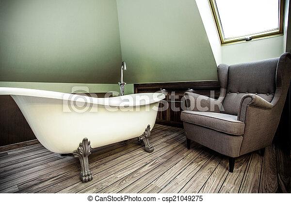 Baño de lujo en el ático - csp21049275