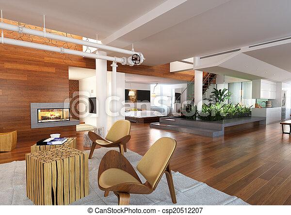 Penthouse moderno - csp20512207