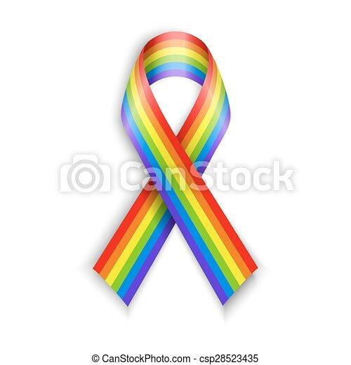 áttetsző, szivárvány, elszigetelt, fehér, shadow., ribbons. - csp28523435