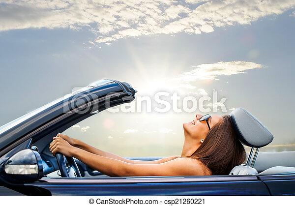 átváltható, leány, vezetés, fiatal - csp21260221