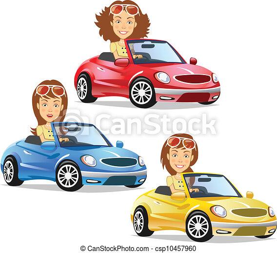 átváltható, vezetés, nők - csp10457960