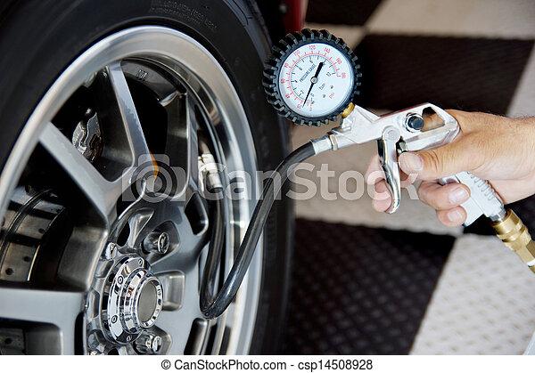 átvizsgálás, kényszer, autógumi, levegő - csp14508928