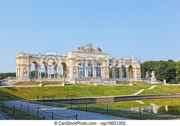 áustria, vista, schonbrunn, estrutura, gloriette, palácio, viena - csp16631352
