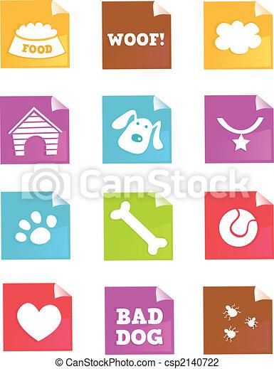–, vecteur, chien, icônes - csp2140722