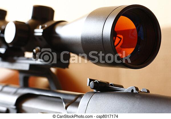 âmbito, franco-atirador, rifle - csp8017174