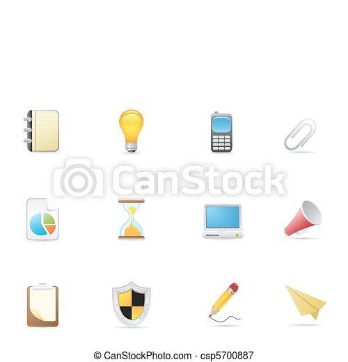 ämbete ikon, &, affär - csp5700887