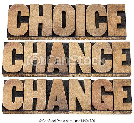 Wahl, Chance und Veränderung - csp14491720