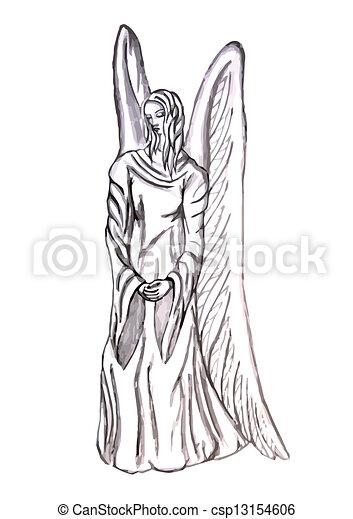 ängel staty - csp13154606