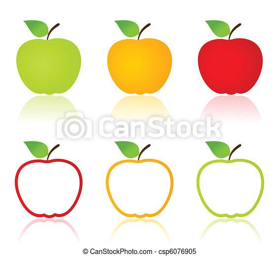 äpple, ikonen - csp6076905