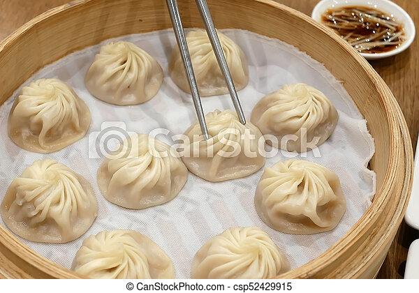 äta, restaurang, folk, klimp, soppa, dopp, matpinnar - csp52429915