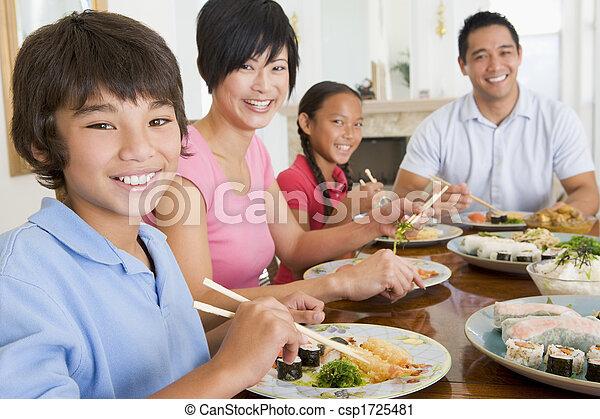 ätande mål, familj, tillsammans - csp1725481