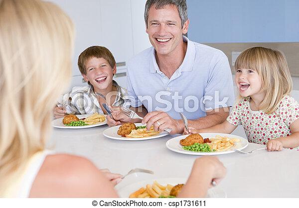 ätande mål, familj, tillsammans - csp1731611